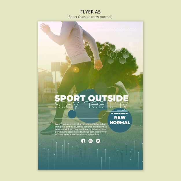 Sport outside flyer template Free Psd