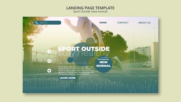 Sport outside landing page Free Psd