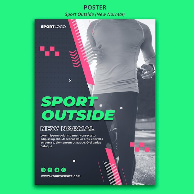 Sport outside poster design Free Psd