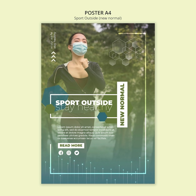 Sport outside poster template Free Psd