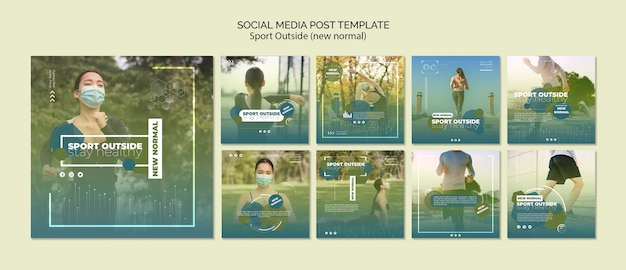 Sport outside social media post Premium Psd