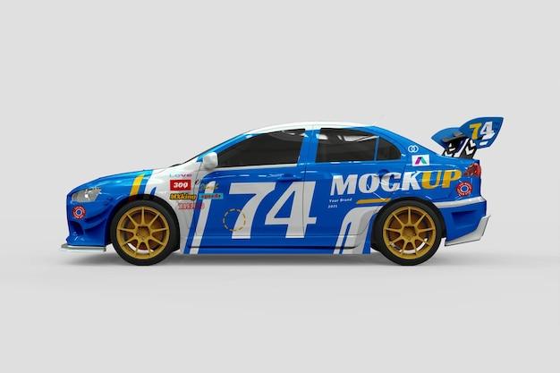 Sport racing car mockup design Premium Psd