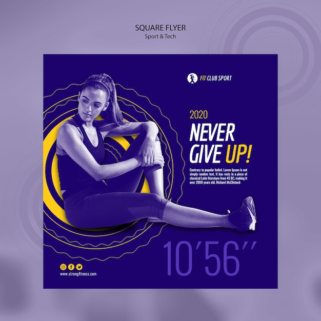 Sport tech commercial with fit woman Free Psd