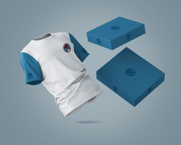 Sports shirt mockup with brand logo Free Psd