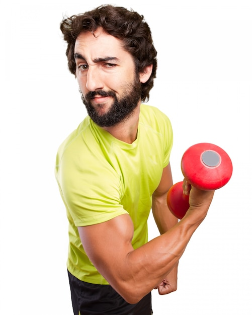 Sportsman showing his biceps Free Psd