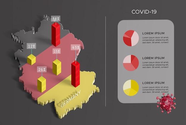 Diffusione della mappa coronavirus germania Psd Gratuite