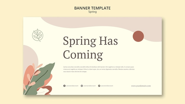 Весна имеет грядущий баннерный шаблон Бесплатные Psd