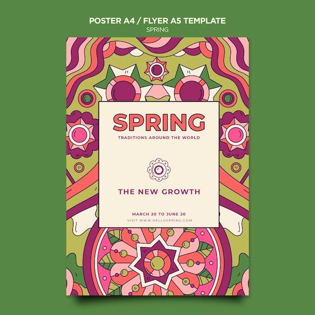 Modello di poster festa di primavera Psd Gratuite