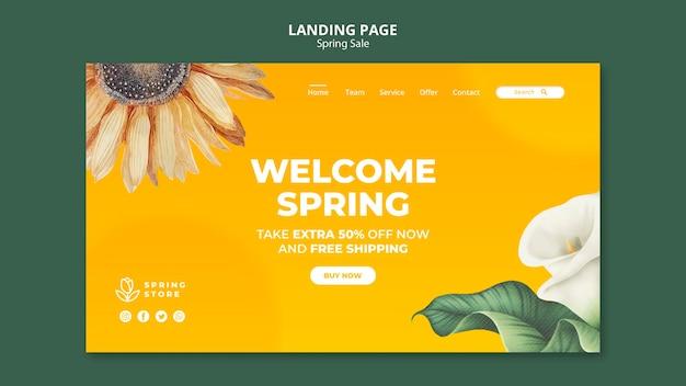 Spring sale landing page Free Psd