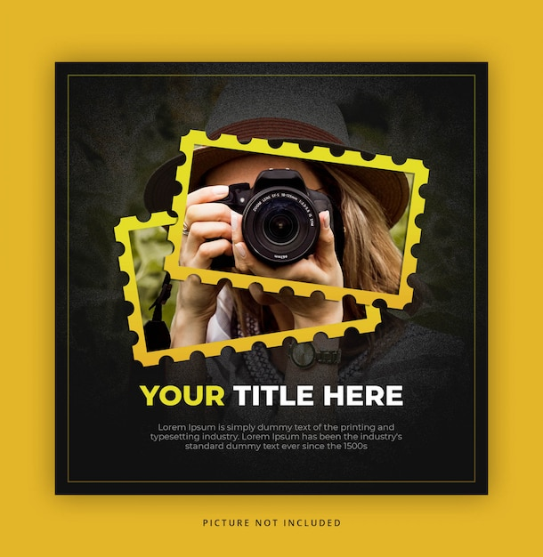 Square banner template for photographer Premium Psd