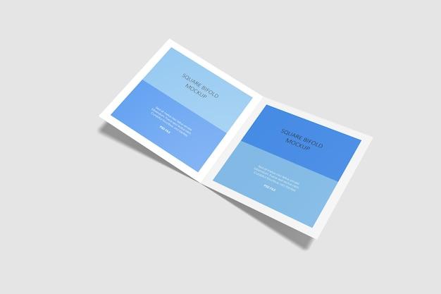 고립 된 사각형 Bifold 브로셔 이랑 프리미엄 PSD 파일