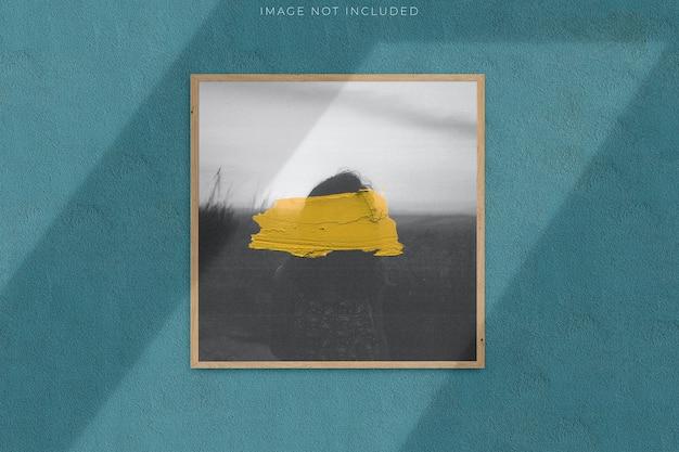 그림자 오버레이가있는 사진을위한 사각 빈 그림 프레임 프리미엄 PSD 파일