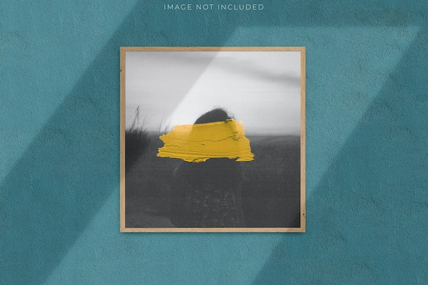 Square blank picture frame for photographs with shadow overlay Premium Psd