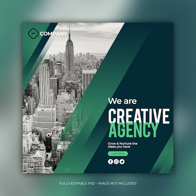 Square business banner template Premium Psd