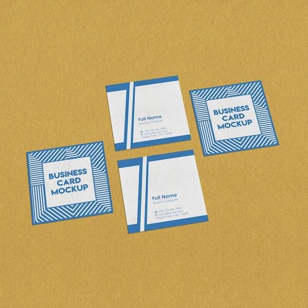 정사각형 명함 모형 프리미엄 PSD 파일