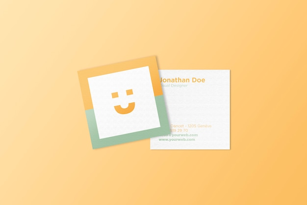 Square business card mockup psd file premium download square business card mockup premium psd colourmoves Images