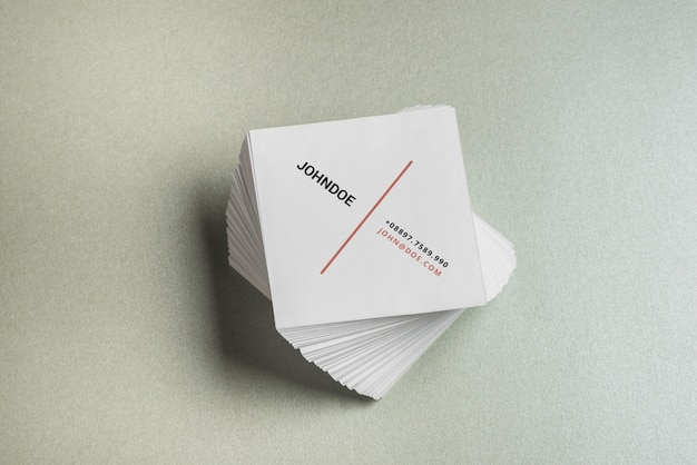 Square Business Card Mockup Free Psd File