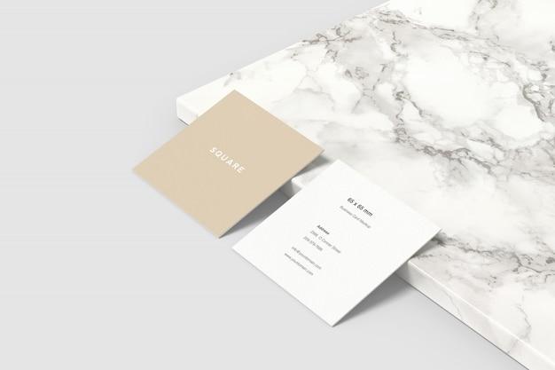 Square business card mockup Premium Psd