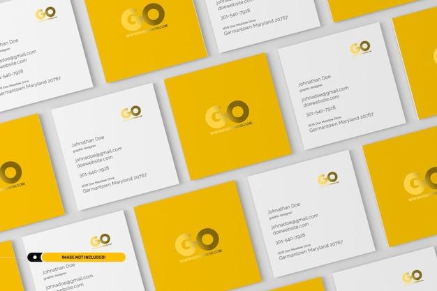 Square business cards mockup Premium Psd