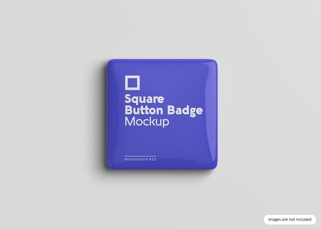 Square button badge mockup Premium Psd