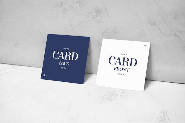 벽 이랑에 누워 사각형 카드 프리미엄 PSD 파일