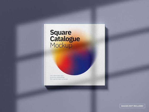 정사각형 카탈로그 표지 모형 프리미엄 PSD 파일