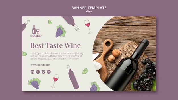 Квадратный флаер для дегустации вин с бутылкой и виноградом Бесплатные Psd