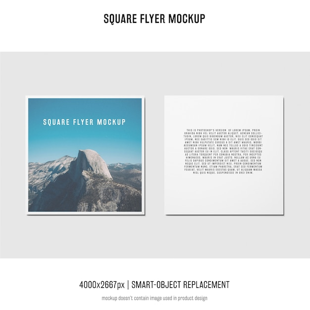 Square flyer, greeting card, invitation mockup Free Psd