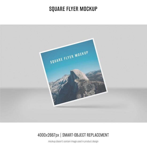 Square flyer, greeting card, invitation mockup Free Psd