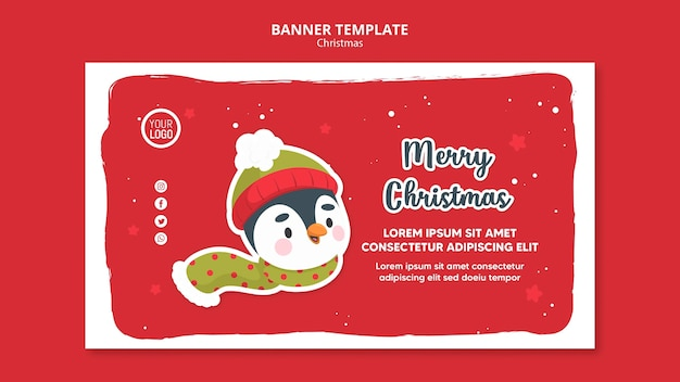 Square flyer merry christmas promo template Free Psd