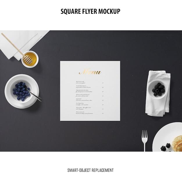Square flyer mockup Free Psd