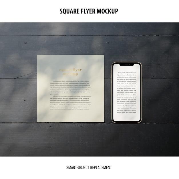 스퀘어 플라이어 이랑 무료 PSD 파일