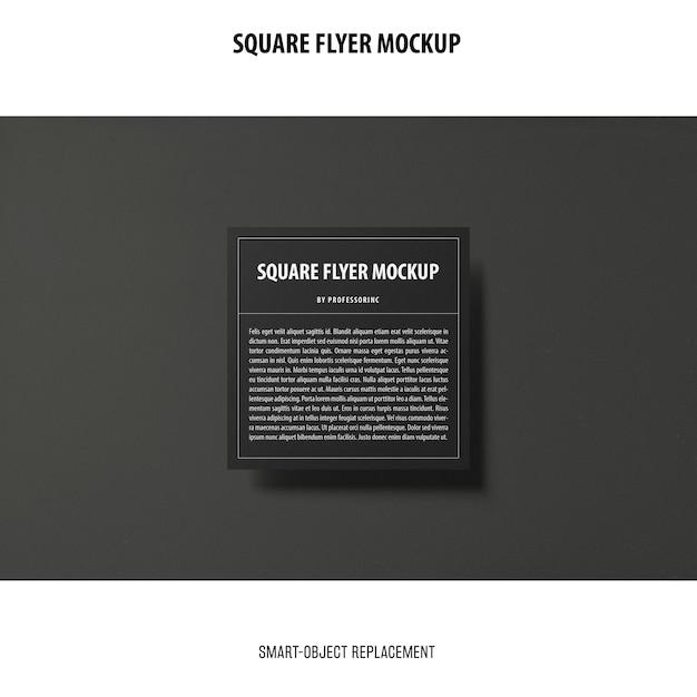 정사각형 전단지 모형 무료 PSD 파일