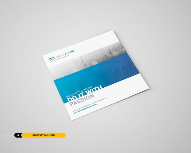 Square flyer mockup Premium Psd