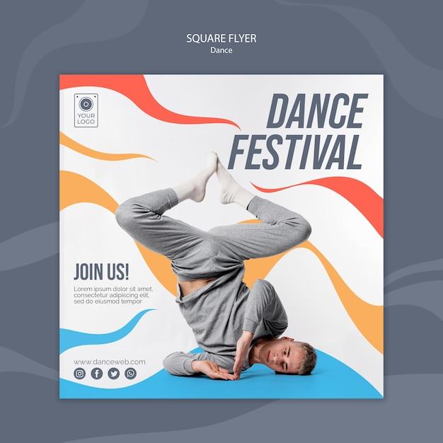 연기자와 댄스 페스티벌 광장 전단지 템플릿 무료 PSD 파일