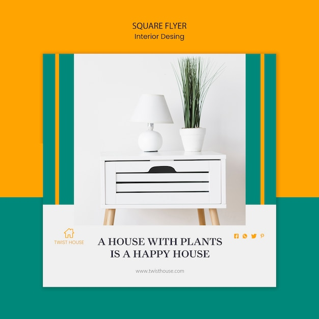 Free Psd Square Flyer Template For Interior Design,Modern Tri Fold Brochure Design Ideas