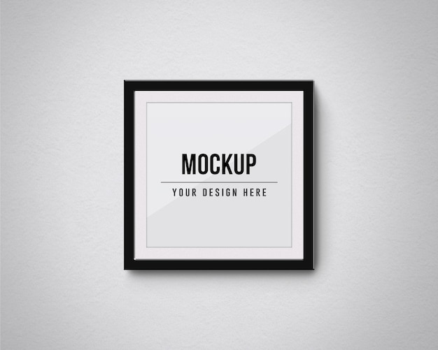 Square frames mockup isolated on the wall Premium Psd