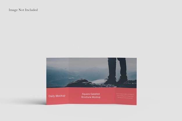 スクエアゲートフォールドパンフレットモックアップデザイン Premium Psd