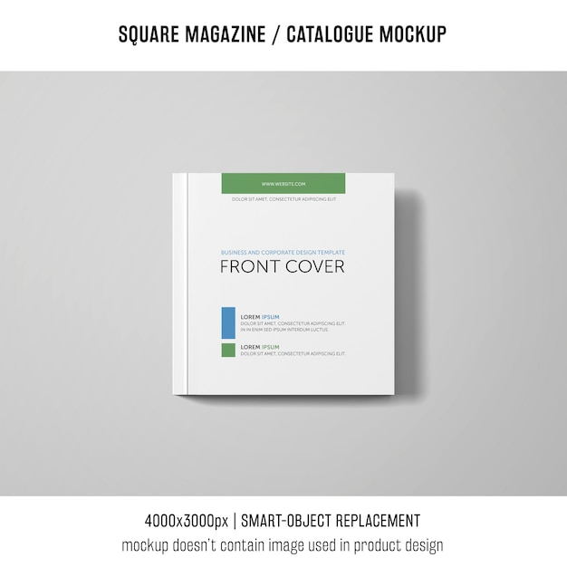 Square magazine or catalogue mockup Free Psd