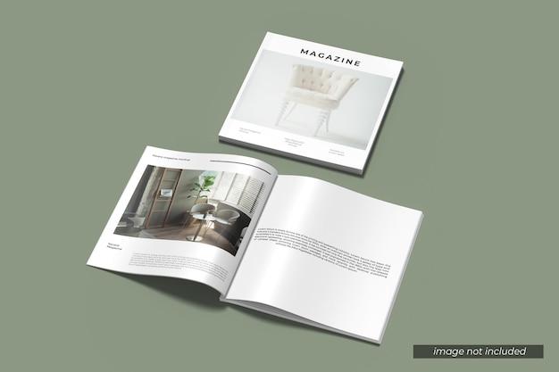 Square magazine mockup Premium Psd