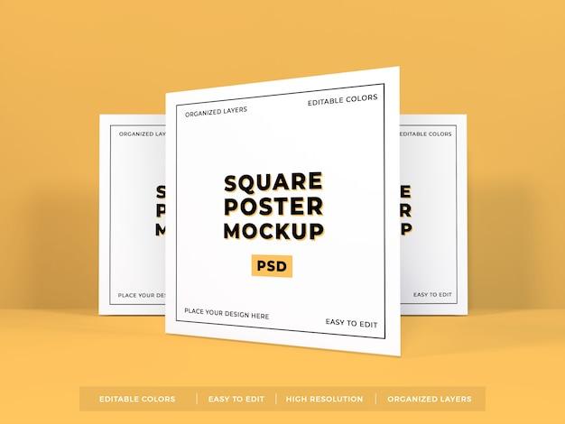 Square poster mockup Premium Psd