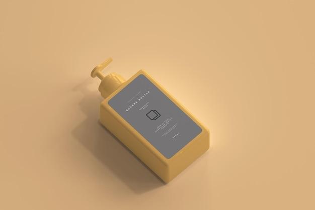 스퀘어 펌프 병 모형 무료 PSD 파일