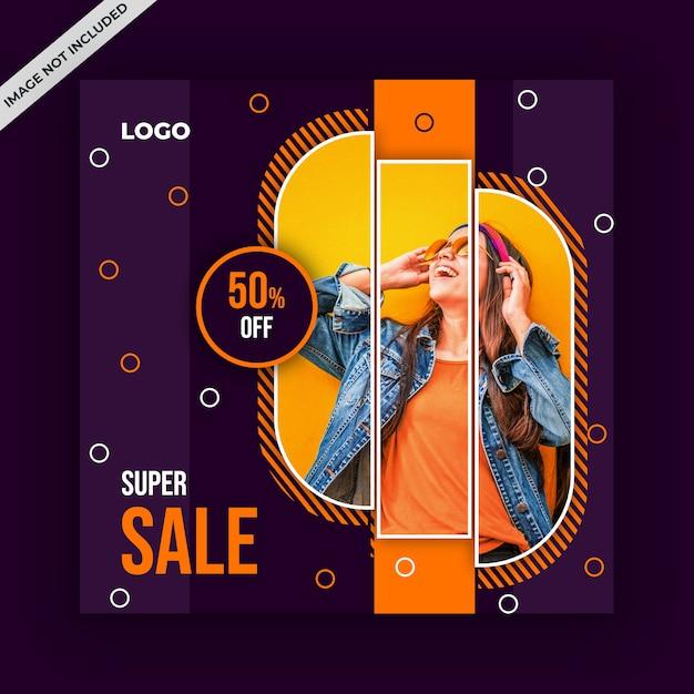 Square sale banner for instagram Premium Psd