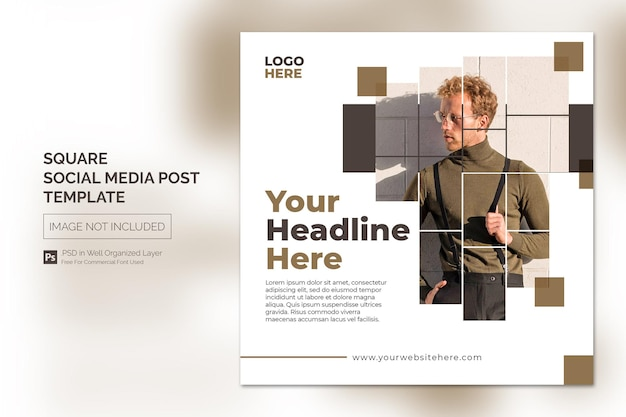 Square social media instagram post or web banner template