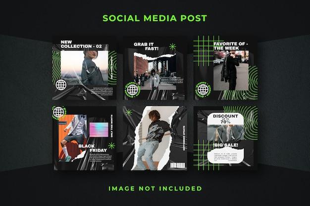 스퀘어 소셜 미디어 게시물 Instagram 템플릿 프리미엄 PSD 파일