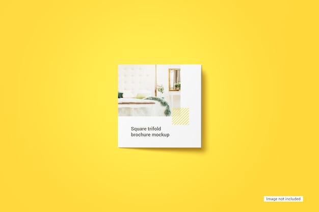 Square trifold brochure mockup Free Psd