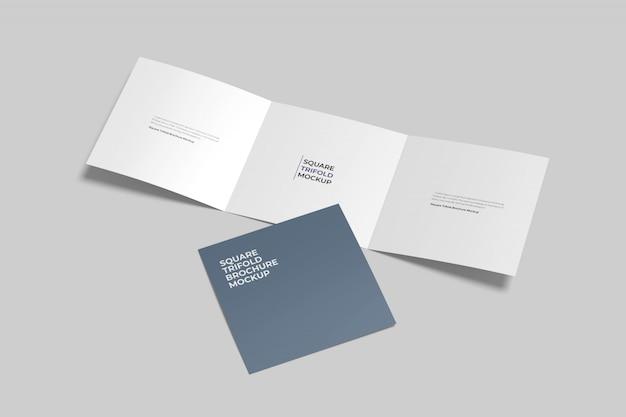 Квадратный тройной макет брошюры Premium Psd