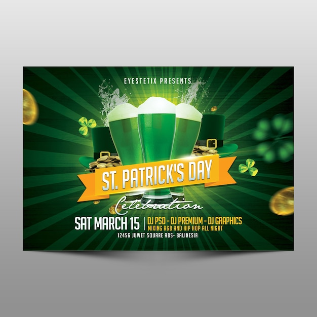 St patrick's day celebration Premium Psd
