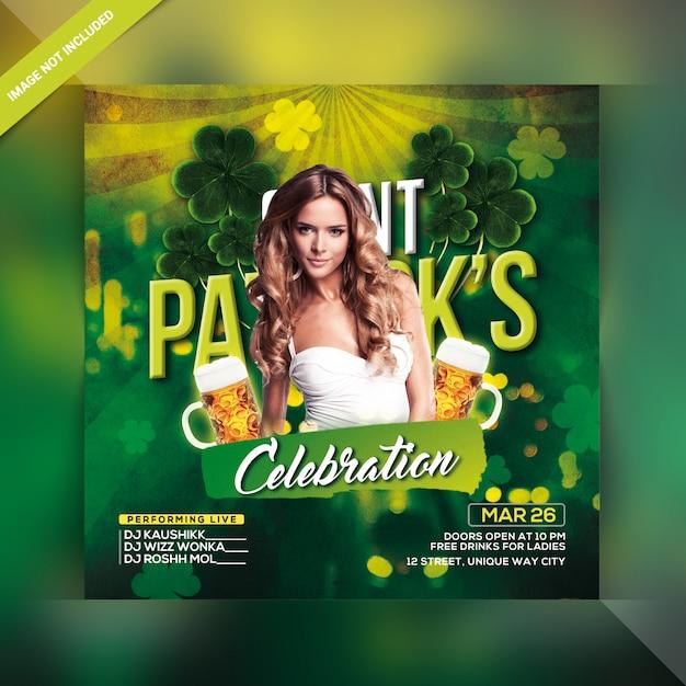 St. patrick's day flyer Premium Psd