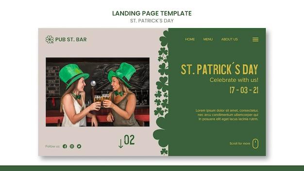 St. patrick's day landing page template Premium Psd